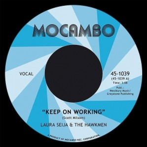 Laura Seija & The Hawkmen 'Keep On Working' + 'Don't Judge A Book By Its Cover'  7""