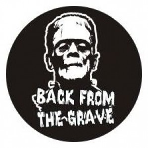 PVC sticker 'Back From The Grave' round