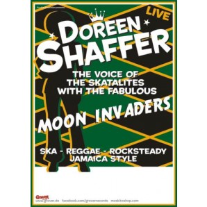 Poster - Doreen Shaffer with the Moon Invaders 'tour 2010' A1