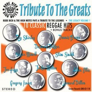 Rude Rich & The High Notes 'Tribute To The Greats'  CD