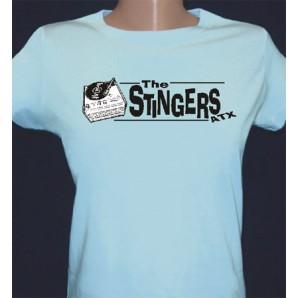 Girlie Shirt 'Stingers ATX - Record Player light blue' - sizes small, medium