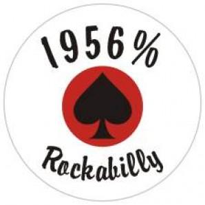 fridge magnet '1956 % Rockabilly' 43 mm