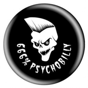 fridge magnet '666% Psychobilly' 43 mm