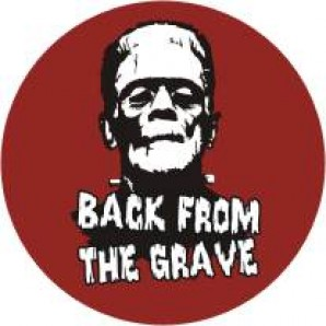 fridge magnet 'Back From The Grave' burgundy, 43 mm