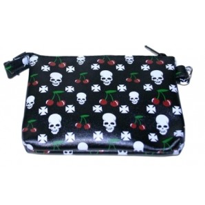 purse 'Cherries + Skull'