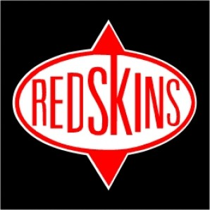PVC sticker 'Redskins - square'