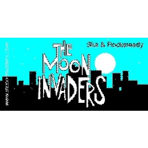 PVC sticker 'The Moon Invaders - angular'
