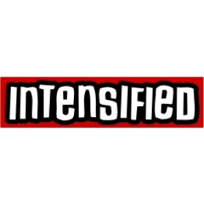PVC sticker 'Intensified - red'