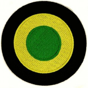 patch 'Skinhead Reggae 1969' green-yellow-black