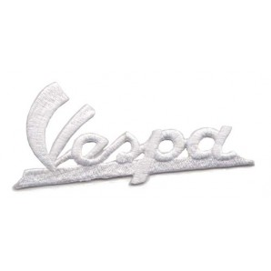 patch 'Vespa logo lettering' white