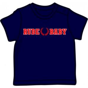 Baby Shirt 'Rude Baby' navy, all sizes