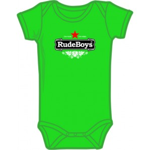 Baby Body Suit 'Rude Baby' kelly green, various sizes