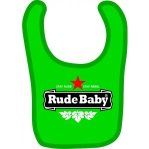 baby bib 'Rocksteady' light blue
