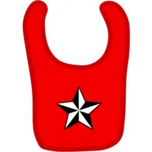 baby bib 'Nautic Star' red