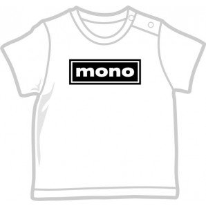 free for orders over  80 €: Baby Shirt 'Mono' four sizes white