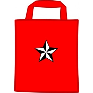 free for orders over  80 €: mini cotton bag 'Nautic Star', red