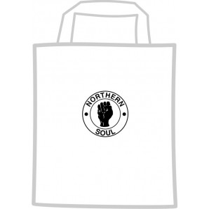 free for orders over  80 €: mini cotton bag 'Northern Soul', white