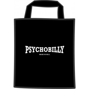 free for orders over  80 €: mini cotton bag 'Psychobilly', black