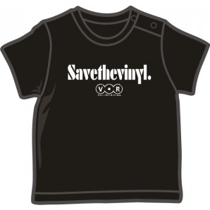 free for orders over 150 €: Baby Shirt 'V.O.R. - Save The Vinyl' black, four sizes