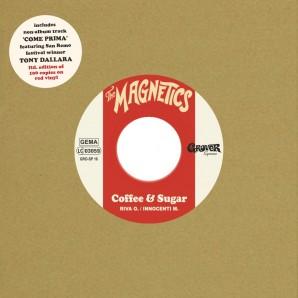 """Magnetics 'Coffee & Sugar' + 'Come Prima (feat. Tony Dallara)'  7"""" ltd. red vinyl"""