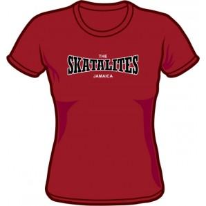 Girlie Shirt 'Skatalites' burgundy, all sizes