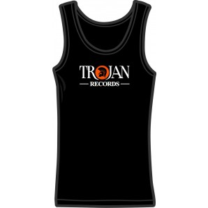 Girlie tanktop 'Trojan Records' black, all sizes