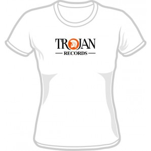 Girlie shirt 'Trojan Records' white, sizes M, XL, XXL