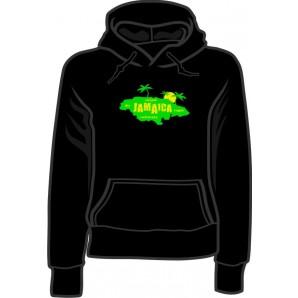girlie hooded jumper 'Jamaica Island' black, all sizes