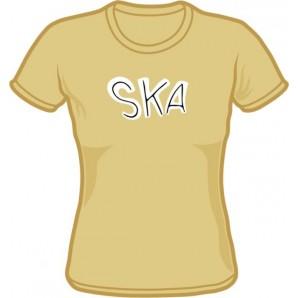 Girlie shirt 'Ska' khaki, all sizes