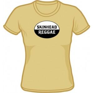 Girlie Shirt 'Skinhead Reggae' beige, all sizes