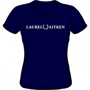 Girlie Shirt 'Laurel Aitken' flock navy, sizes S - XL