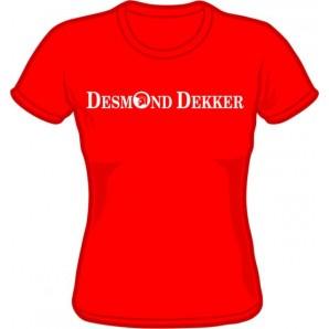 Girlie Shirt 'Desmond Dekker - red' - all sizes