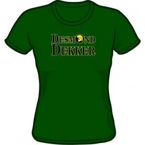 Girlie Shirt 'Desmond Dekker' green, all sizes