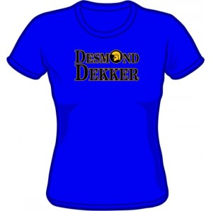 Girlie shirt 'Desmond Dekker' royal blue, all sizes