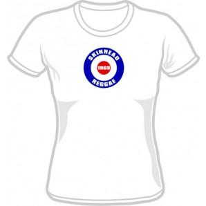 Girlie Shirt 'Skinhead Reggae 1969' white, all sizes