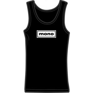 Girlie tanktop 'Mono' black, all sizes