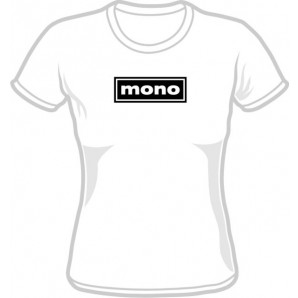 free for orders over  80 €: Girlie Shirt 'Mono' all sizes white