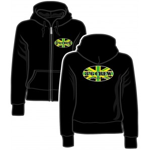 Girlie Zipper Jacket '8°6 Crew - Working Class Reggae' black, size M, L, XXL