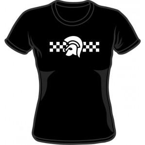 Girlie Shirt 'Trojan 2 Tone' black - Gr. S - XXL