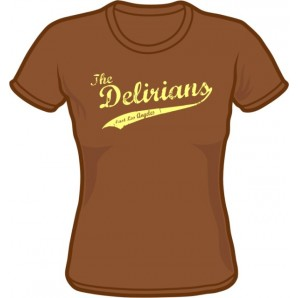 Girlie Shirt 'Delirians' chestnut brown, sizes small - XXL
