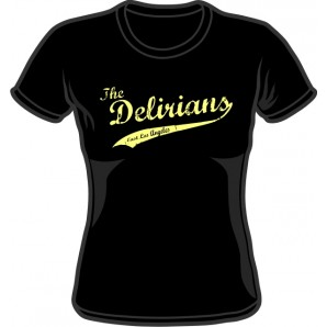 Girlie Shirt 'Delirians' black, sizes small - XXL