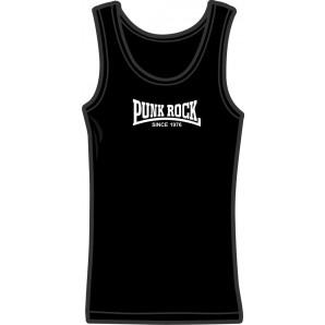 Girlie tanktop 'Punkrock Since 1976' black, all sizes