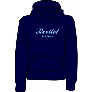 girlie hooded jumper 'Revilot Records navy' all sizes
