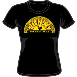 Girlie Shirt 'Sunny Domestozs' black - old school version! all sizes