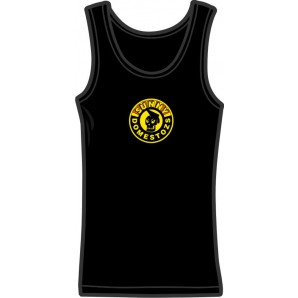 Girlie tanktop 'Sunny Domestozs - Skull' black, all sizes