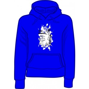 girlie hooded jumper 'Sunny Domestozs - rat' blue all sizes