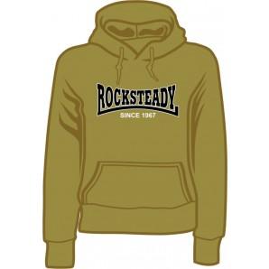 Girlie Kapuzenpulli 'Rocksteady Since 1967' olive, sizes S, M