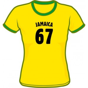 Girlie Shirt 'Jamaica 67 - Ringershirt' sizes small, medium, large