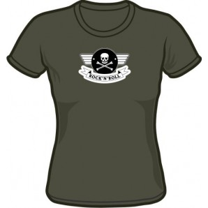 free for orders over 150 €: Girlie t-Shirt 'Rock'n'Roll' charcoal, all sizes