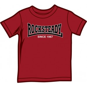 Kids Shirt 'Rocksteady Since 1967' burgundy, 5 sizes